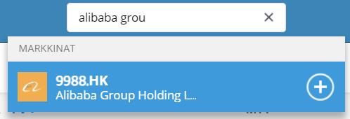 Etsi kiinalaisia osakkeita