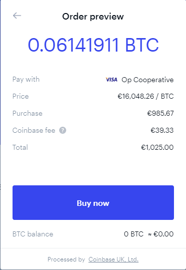 Osta Bitcoin Coinbasesta