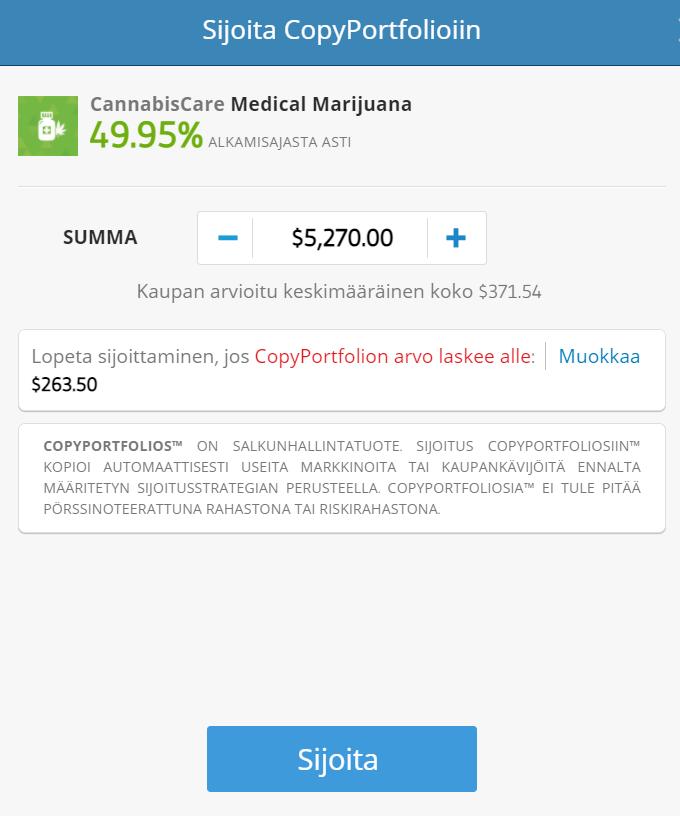 eToro Kannabis Copytrading