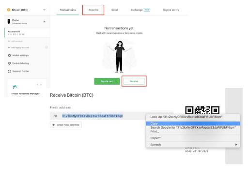Trezor wallet Bitcoin