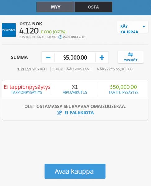 Osta Nokia osake