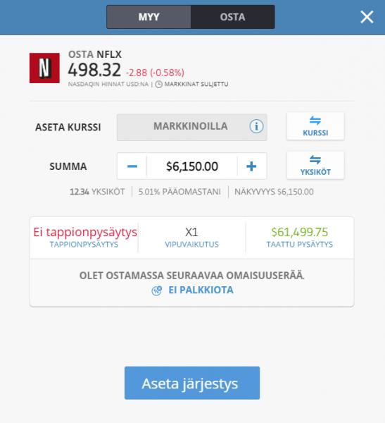 Osta Netflix osake