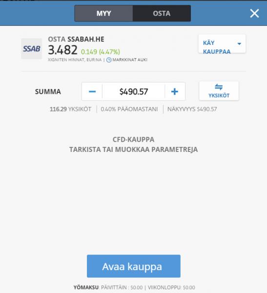 Osta SSAB osake